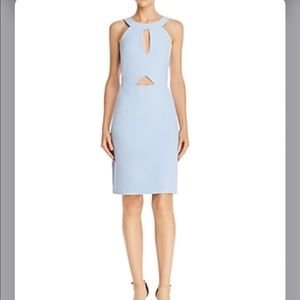 LAUNDRY BY SHELLI SEGAL Cutout Cocktail Dress Blue